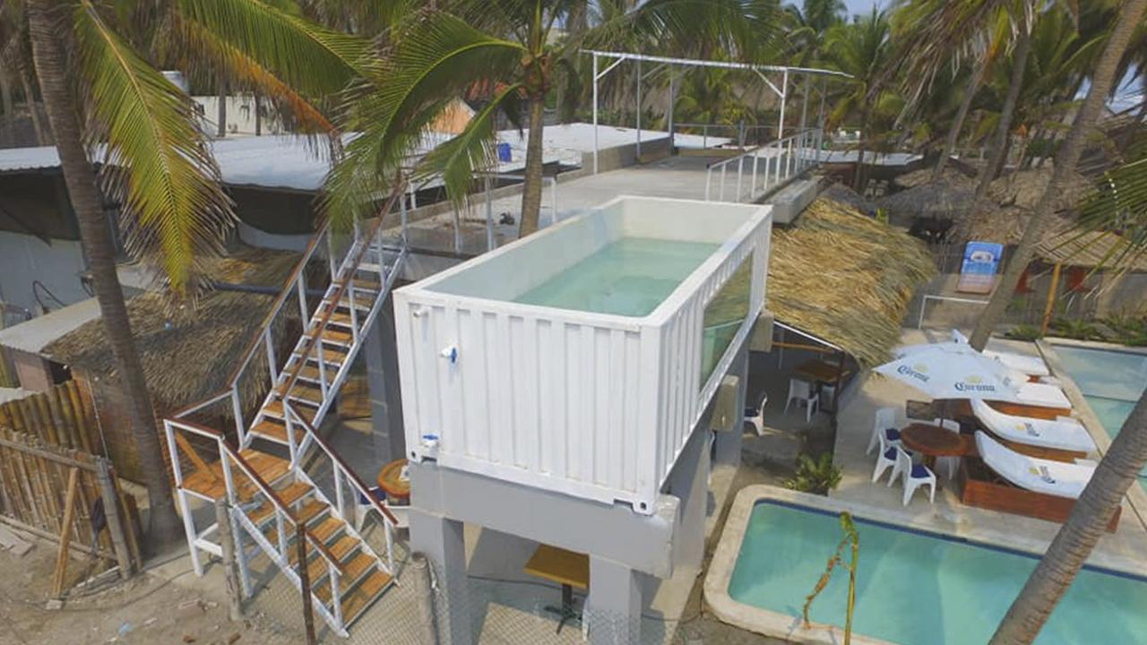 En El Salvador usan contenedores para crear casas y hoteles