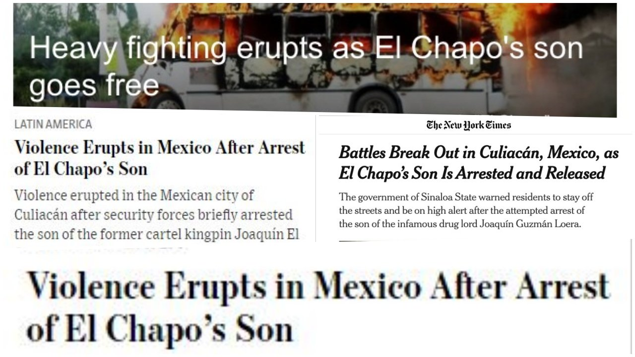 Gobierno de López Obrador, humillado: así vio la prensa internacional la liberación del hijo de 'El Chapo'