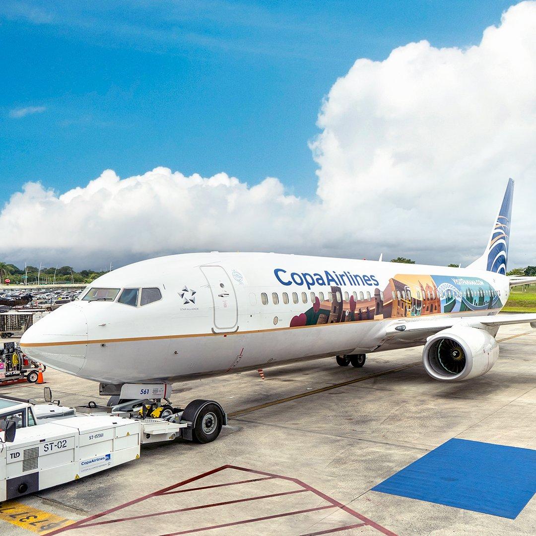 Copa Airlines presenta avión con imágenes de la historia y ciudad de Panamá