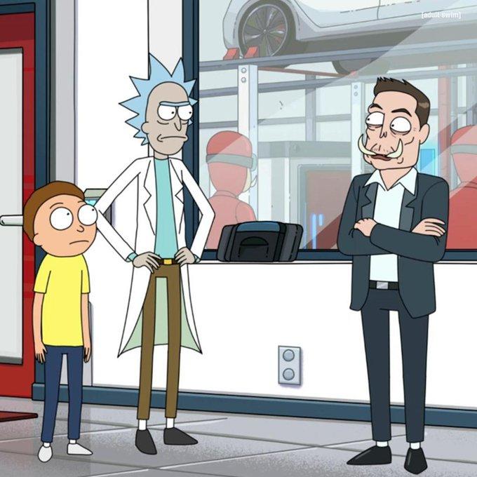 Elon Musk aparece en un nuevo episodio de Rick y Morty