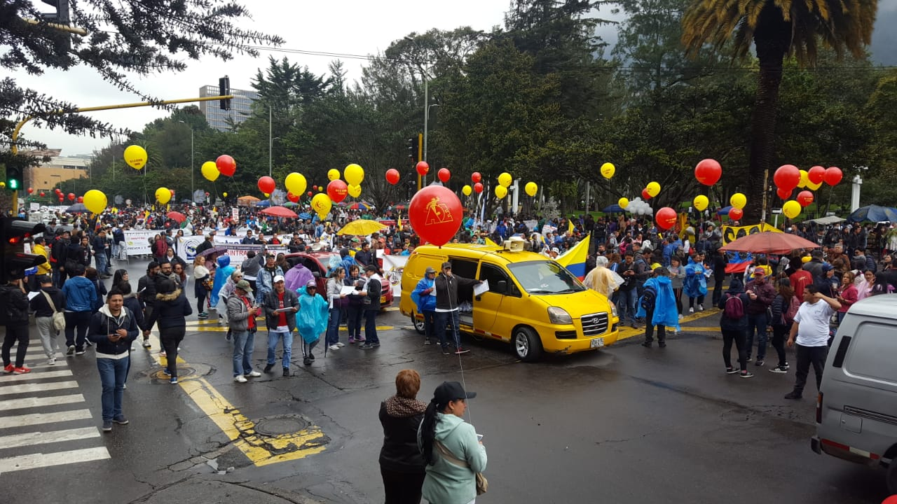 Así transcurren las marchas de este 21 de noviembre en Bogotá