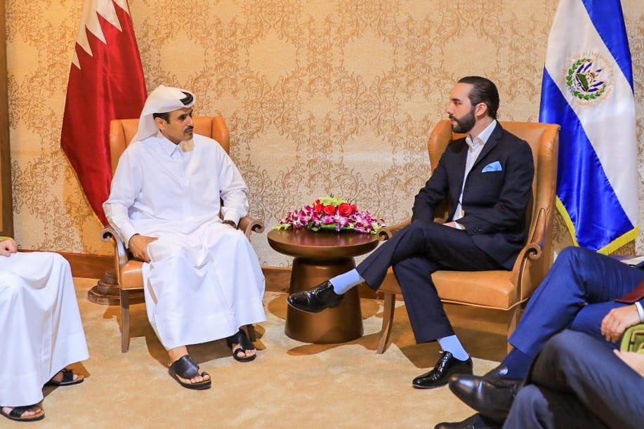 Bukele busca apoyo de Qatar para mejorar matriz energética