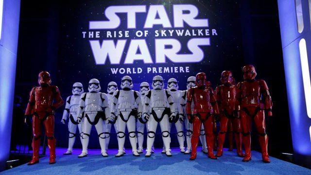Hollywood celebra el episodio final de 'Star Wars' en estreno mundial