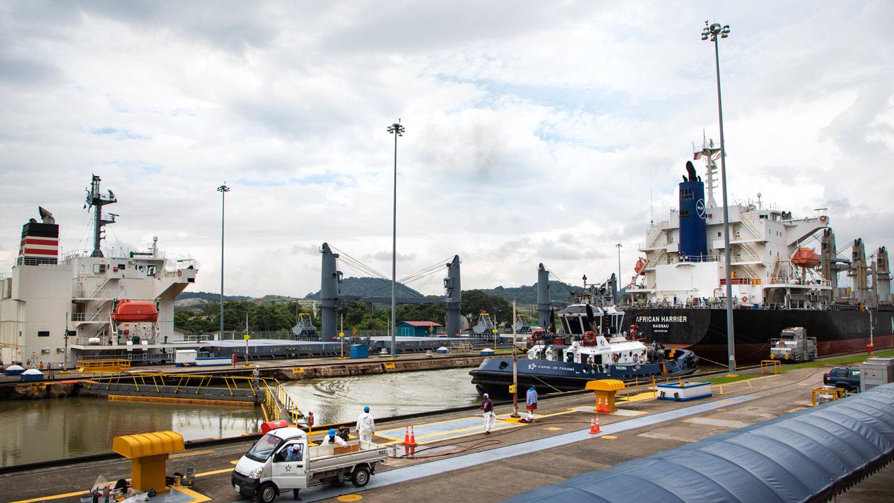 El Canal de Panamá ya sufre la crisis del COVID-19