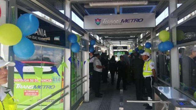 Una de las estaciones de la Línea 7 del Transmetro. (Foto Prensa Libre: José Patzán).