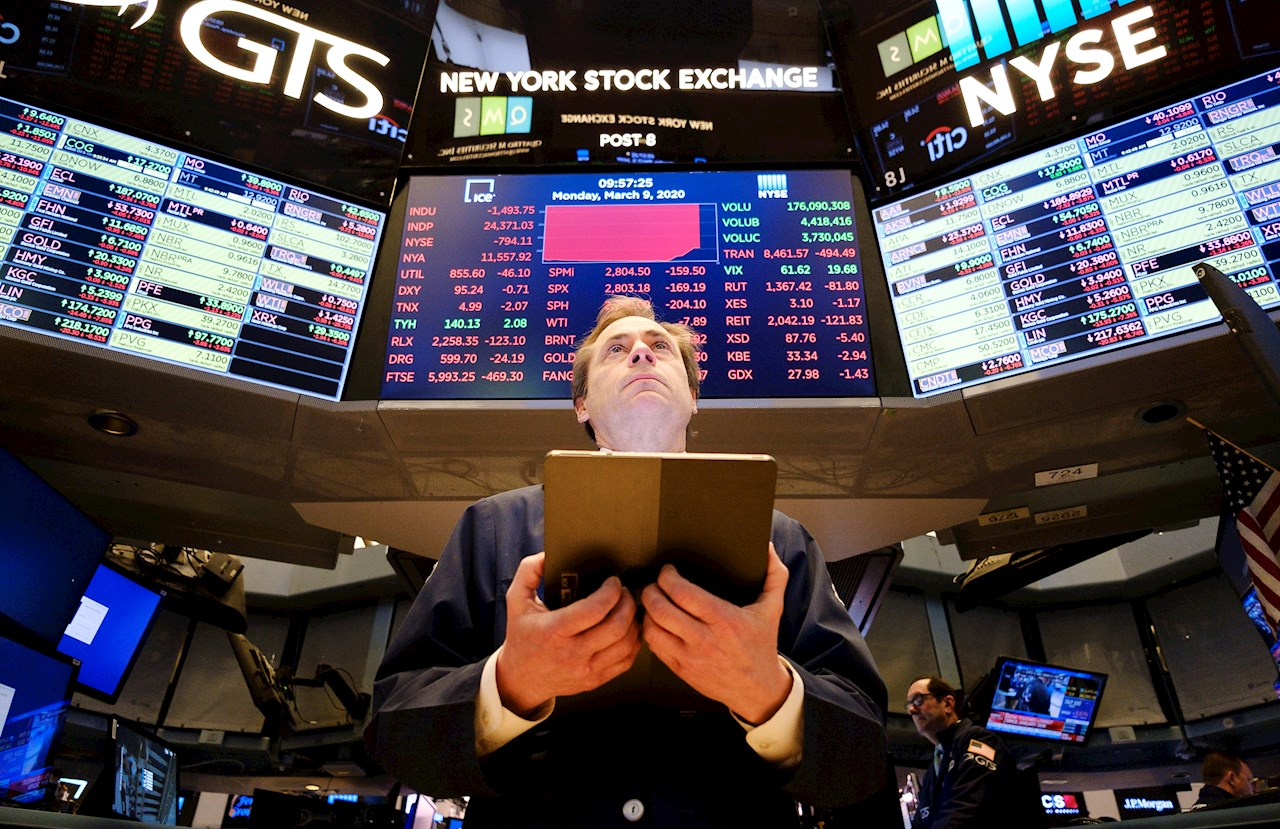 Wall Street abre mixto y Dow sube un 0.67% pese a aumento de casos de COVID-19