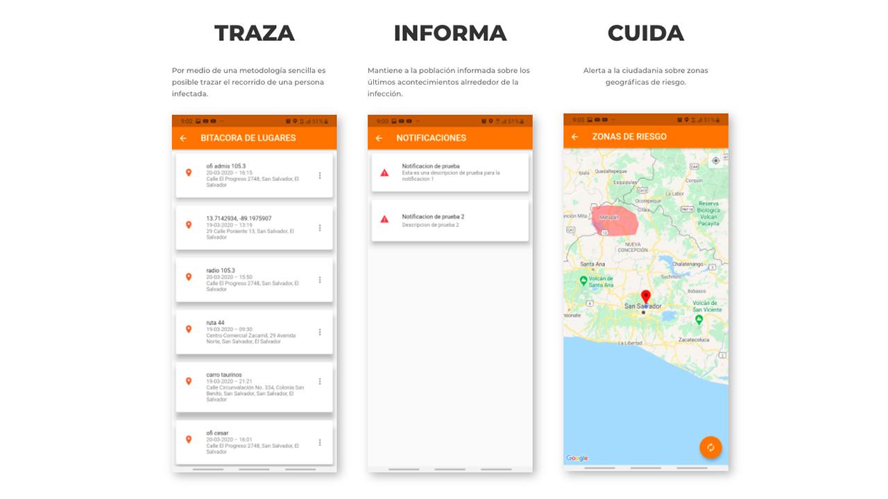 Desarrolladores salvadoreños crean app para detectar casos de COVID-19