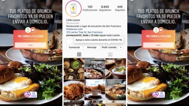 Ya podrás pedir comida a través de Instagram
