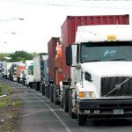 transporte exportación bloqueo carretera