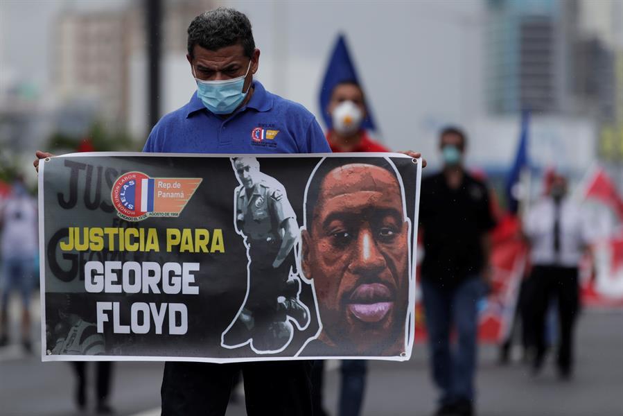 Sindicatos de Panamá apoyan al pueblo de EU que lucha contra el racismo