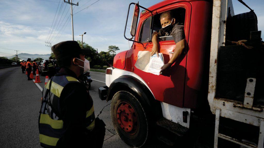 El Salvador logistica transporte coronavirus covid