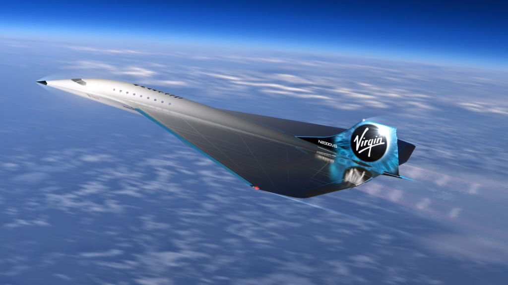 avión supersónico Virgin Galactic