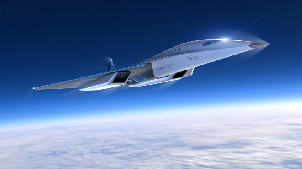 avión supersónico Virgin Galactic.