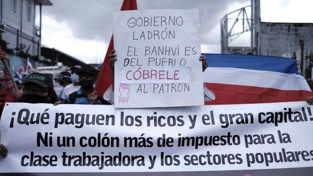 Protestas en Costa Rica.