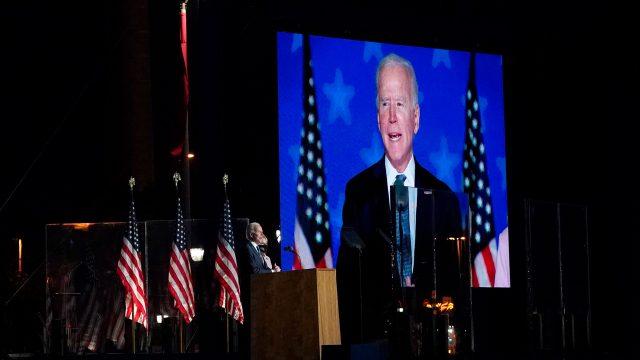 Joe Biden candidato en la noche de la elección presidencial , elecciones estados unidos