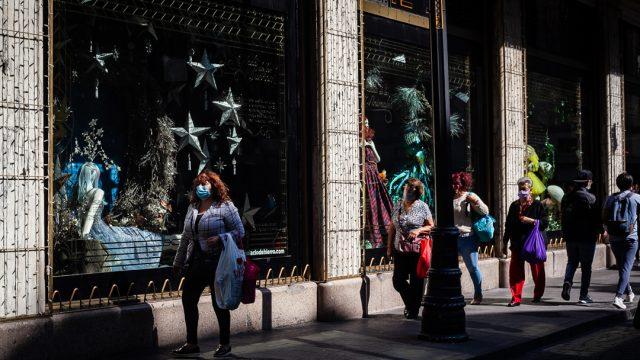 Gente compras centro Covid19 Pandemia Ciudad de México
