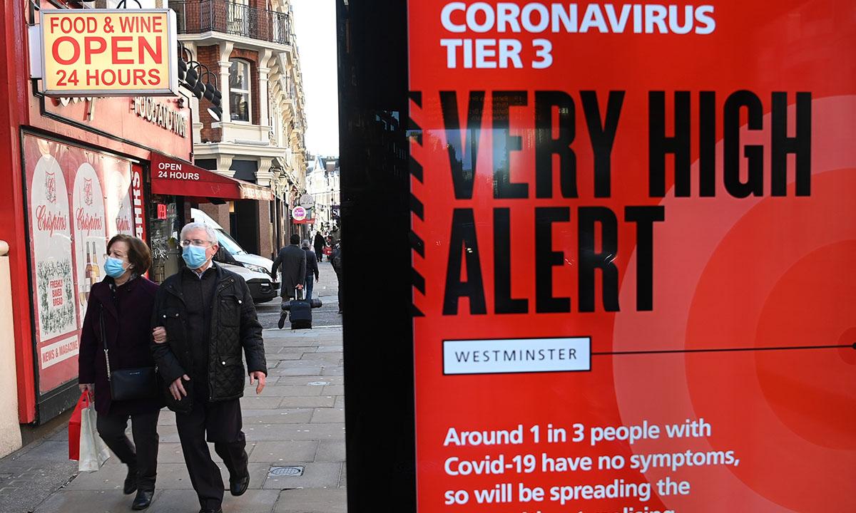 Reino Unido contempla nuevas medidas por cepa de Covid-19 que se expande más rápido