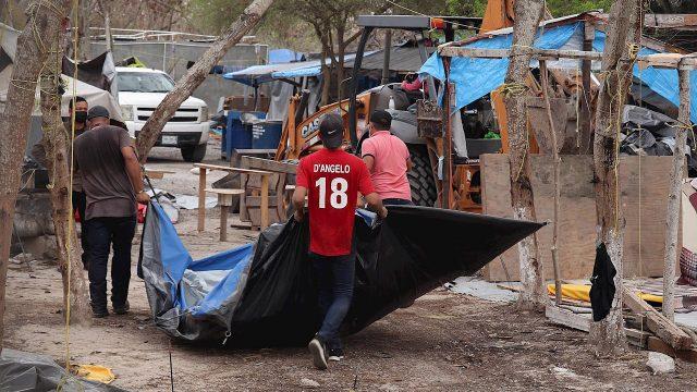 Campamento en México fue desmantelado pero migrantes llegan para cruzar a EU