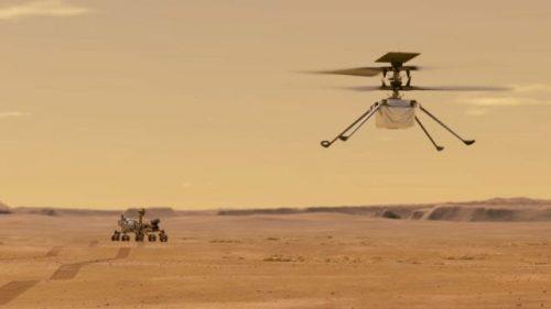 El robot Ingenuity de la NASA hace historia con un vuelo en Marte