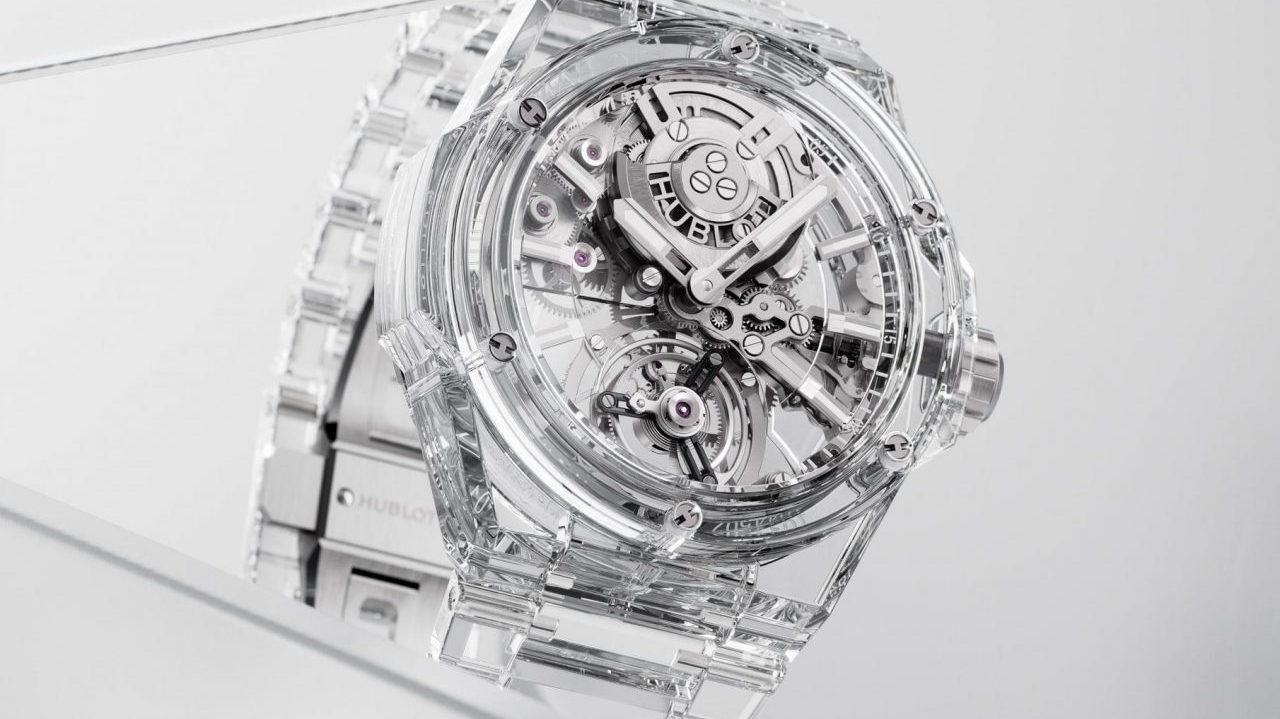 Hublot logra una nueva proeza: crear un reloj de zafiro puro