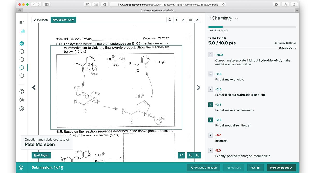 Gradescope: la mejor plataforma para evaluar cursos STEM para educación superior