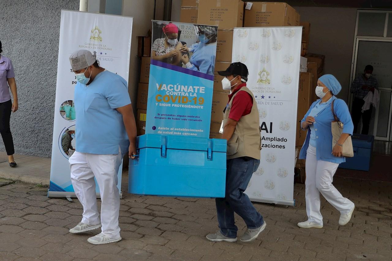 Honduras recibe un tercer lote de vacunas de Pfizer con 40,950 dosis