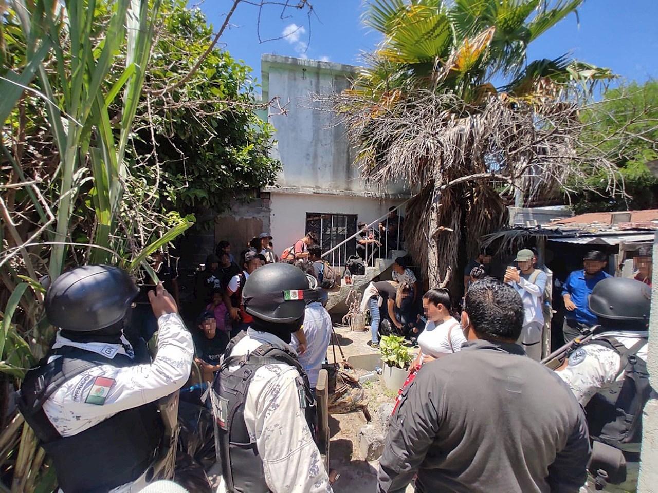Autoridades mexicanas interceptan a 55 migrantes centroamericanos