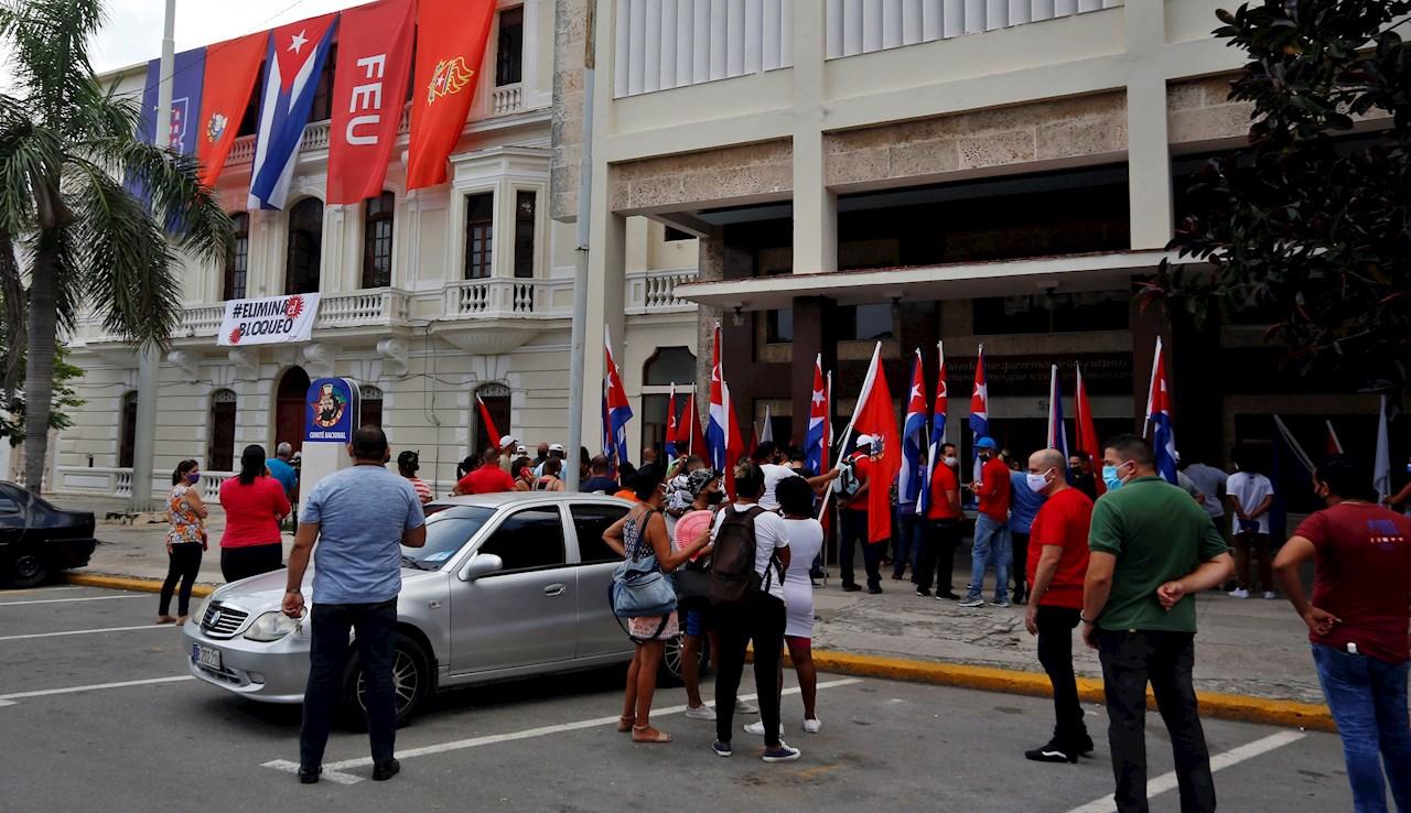 """Estados Unidos evalúa cómo ayudar """"directamente"""" al pueblo de Cuba tras las protestas"""