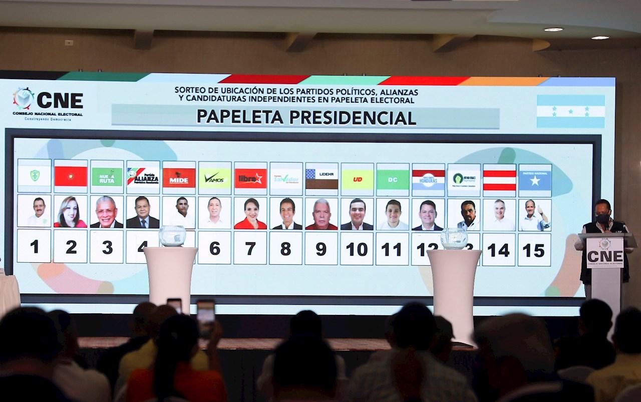 De 15 candidatos solo 4 tienen posibilidad de ser presidente de Honduras