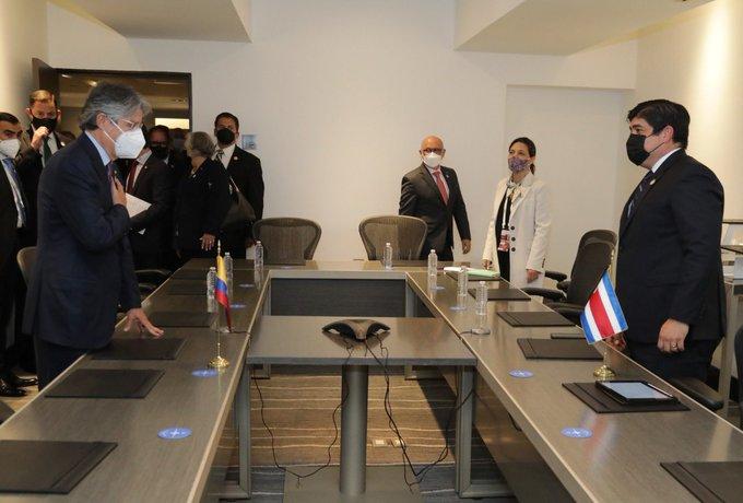 El presidente de Ecuador se reúne con colegas de Guatemala y Costa Rica