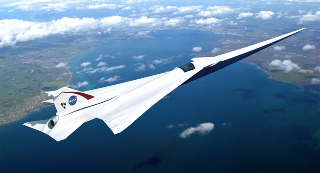 avión supersónico NASA