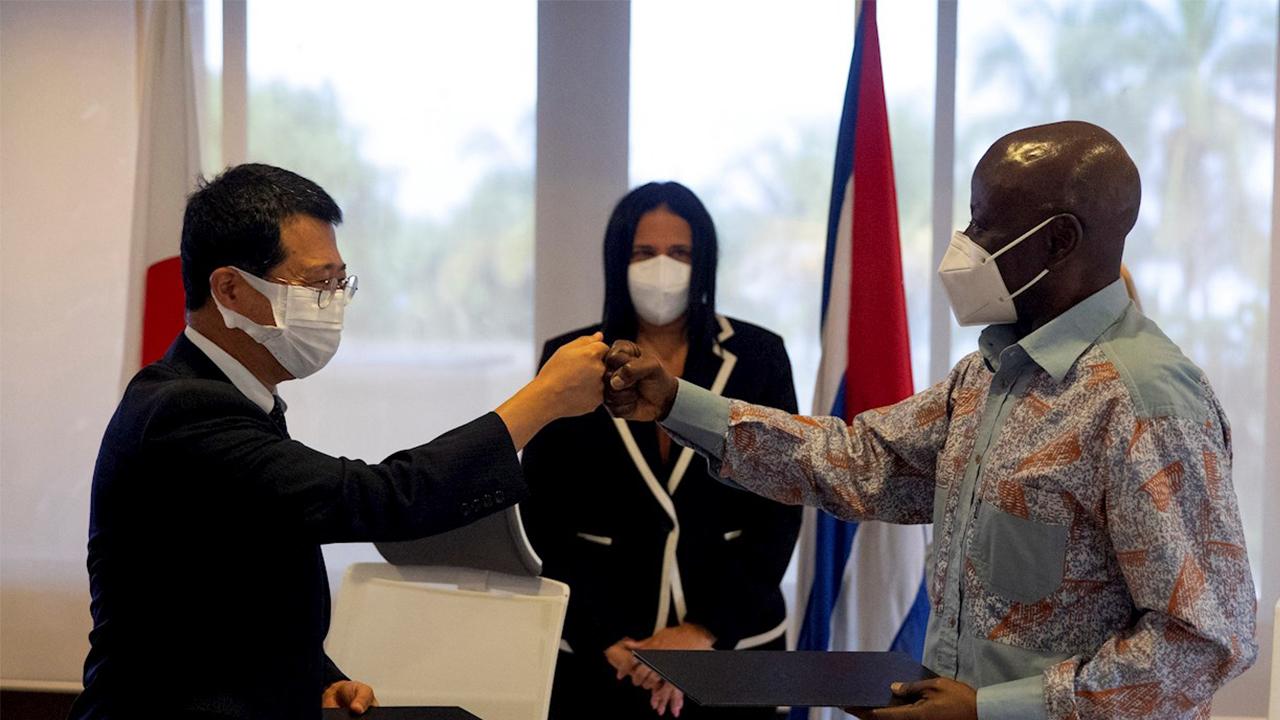 Japón dona 2.9 mdd para un proyecto anticovid en Cuba